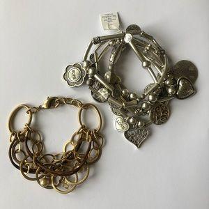 Lia Sophia 5-Row Charm Stretch Bracelet + Bracelet